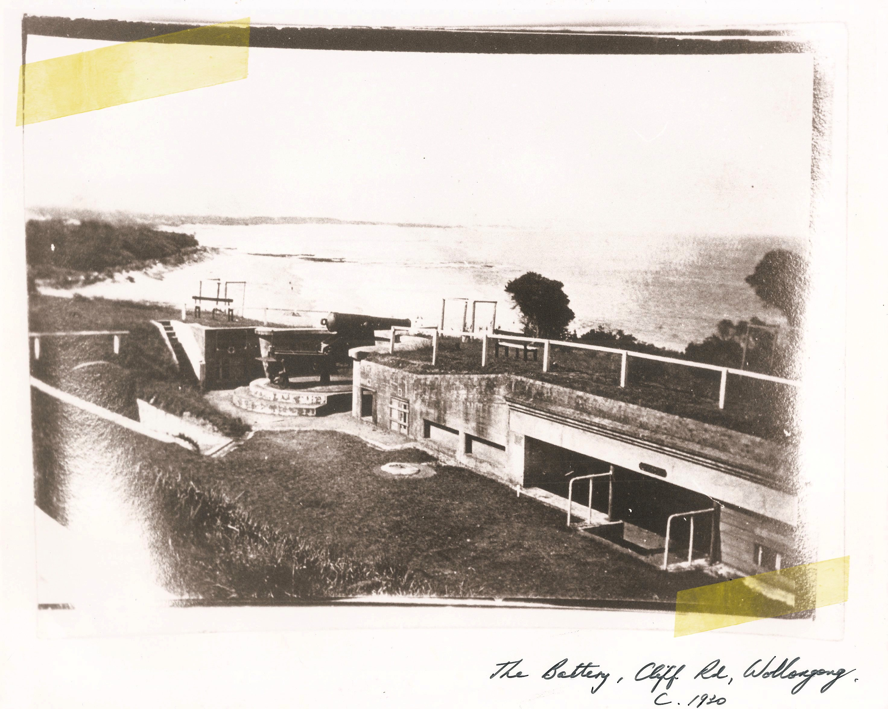 the battery cliff road wollongong 1930 copy